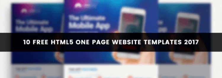 10 Free HTML5 One Page Website Templates 2017