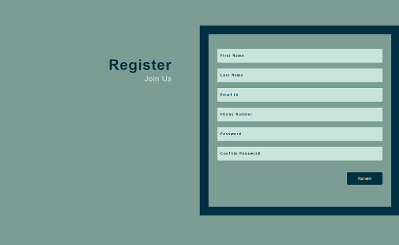 Free Multipurpose Sign Up Form Widget Template