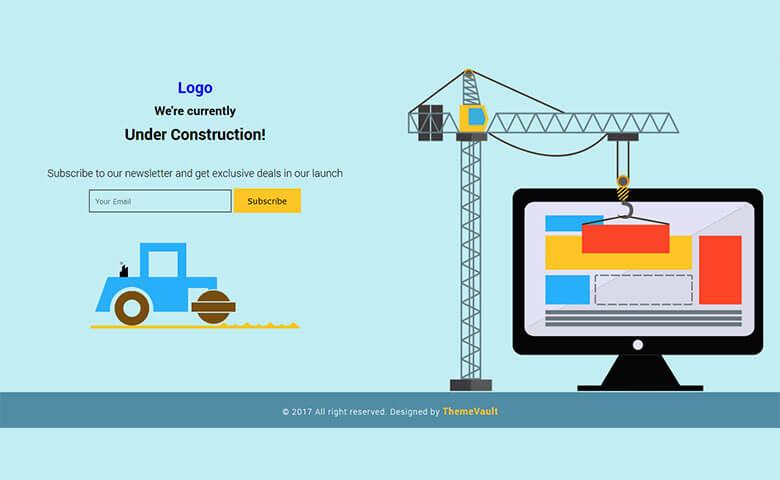 Modish Free Under – Construction Widget Template Responsive