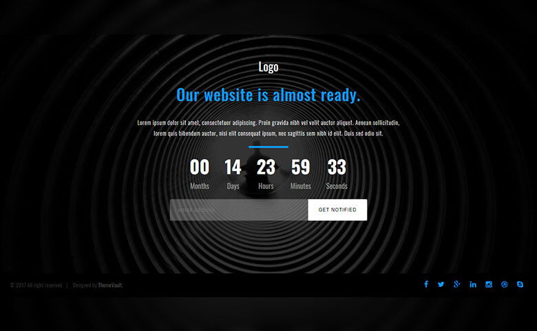 Launching Soon Page Free Widget Template   ThemeVault
