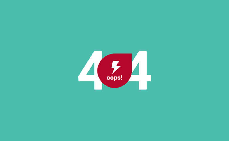 Creative Vibrant 404 Error Page Widget Template