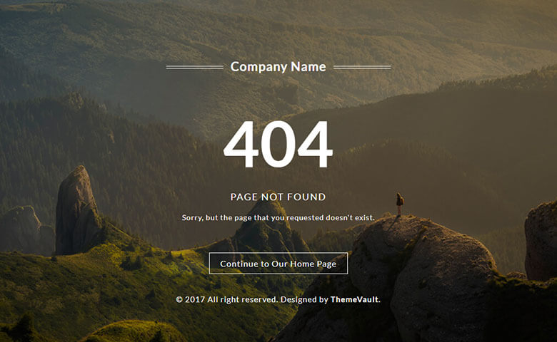 Cool 404 Error Page Free Responsive Widget Template