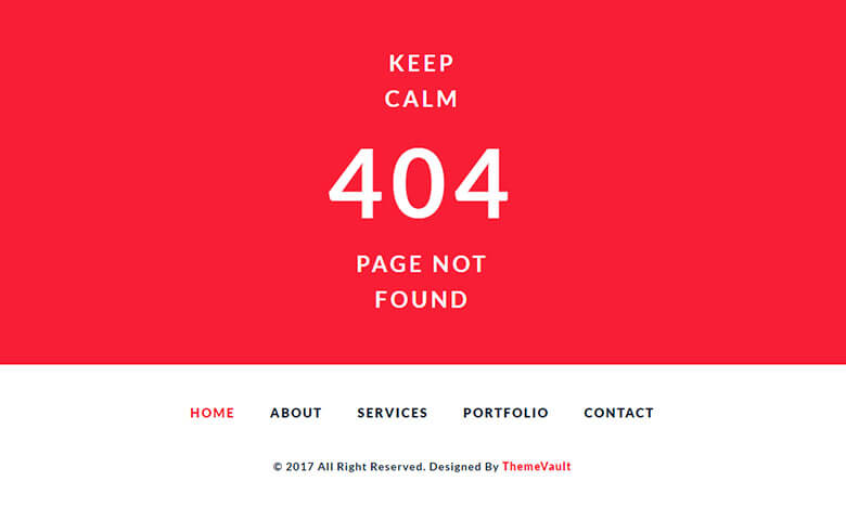 Elegant Error 404 Page Widget Template
