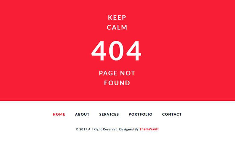 Elegant Error 404 Page Widget Template