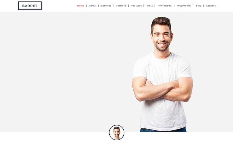 Barret – Portfolio Website Templates For Web Developer