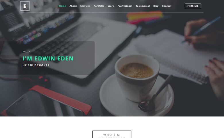 Edwin-Eden – Responsive UX Designer Portfolio Template HTML5