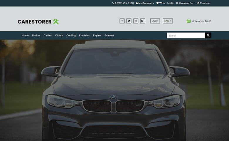Carestorer – Responsive HTML5 Auto Parts Website Template