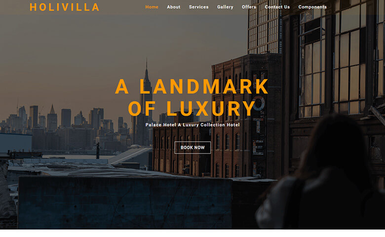 HoliVilla – Free Responsive Hotel Website Template Html5