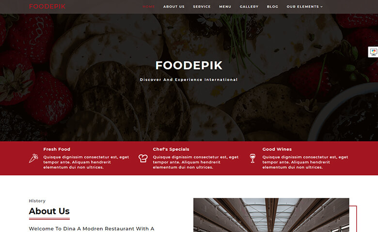 FoodEpik – Free Online Food Ordering Template HTML5