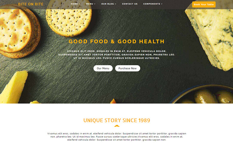 Bite on Bite Website Template