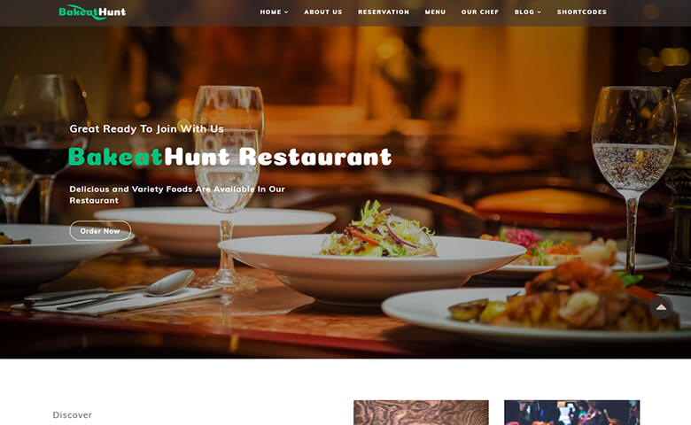 bakeathunt  u2013 best restaurant web design template