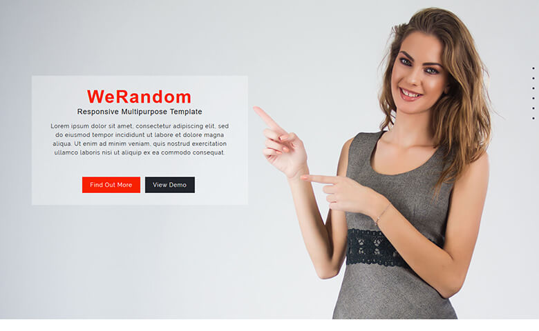 WeRandom Website Template