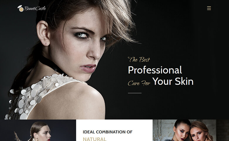BeautiCastle Website Template