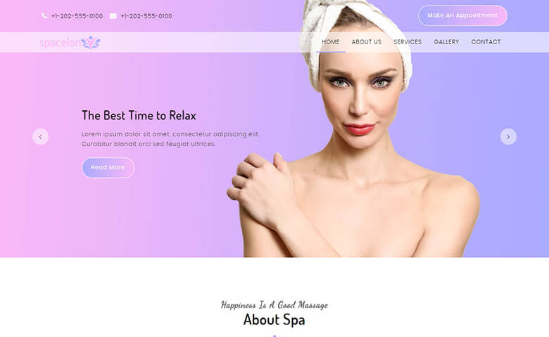 Spacelon - Responsive HTML5 Beauty Salon Website Templates
