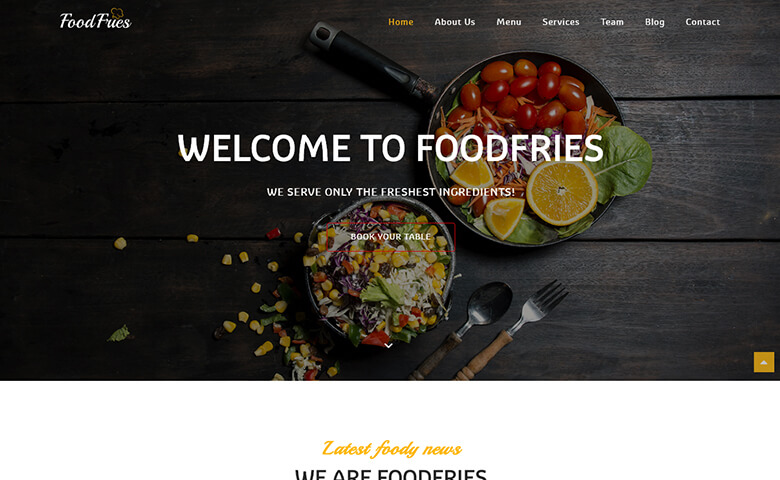foodfries best restaurant website templates html5 themevault