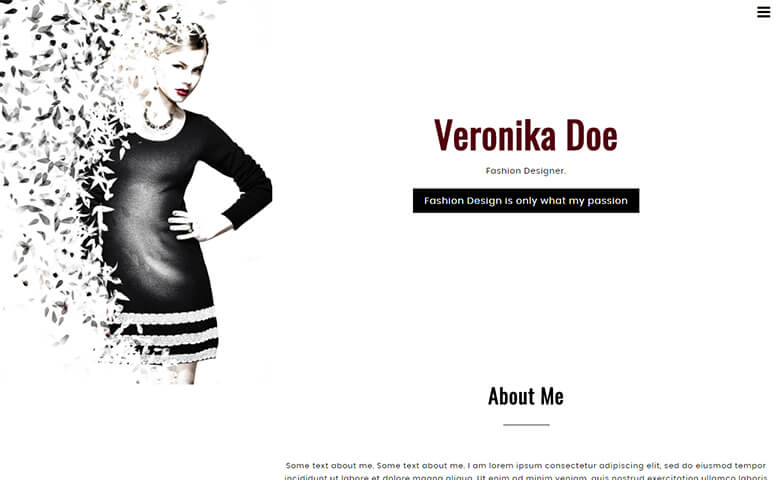 VeronikaDoe Website Template