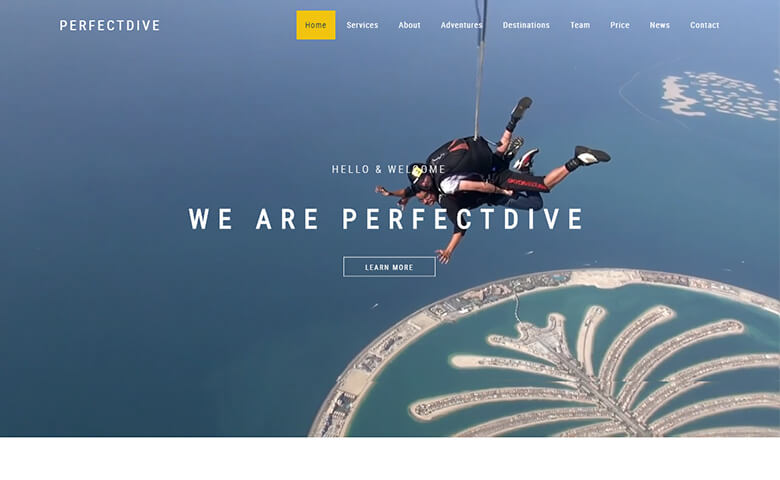 Perfectdive – Responsive Adventure Website Templates HTML5