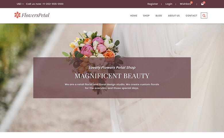 FlowersPetal – Responsive eCommerce Florist Website Template