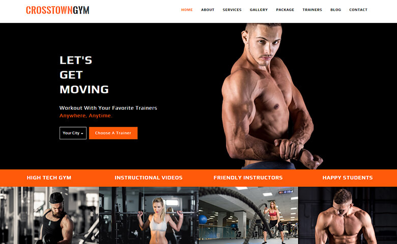 CrosstownGym – Gym and Fitness Centre Html5 Template