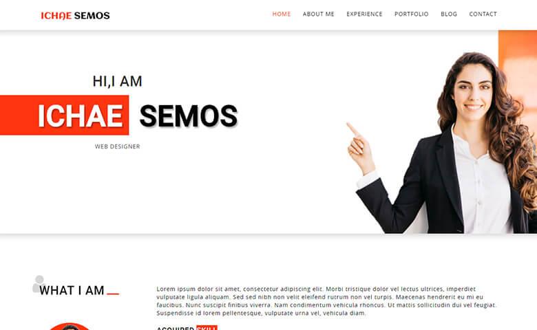 Ichae Semos – Responsive HTML5 Web Design Portfolio Template