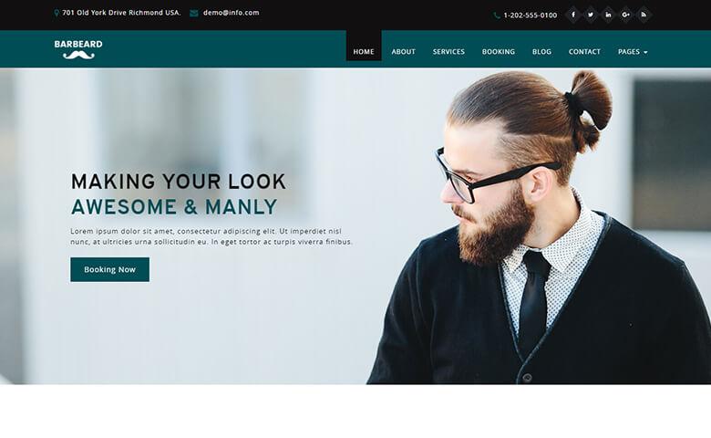 barbeard html5 responsive barber shop website template. Black Bedroom Furniture Sets. Home Design Ideas