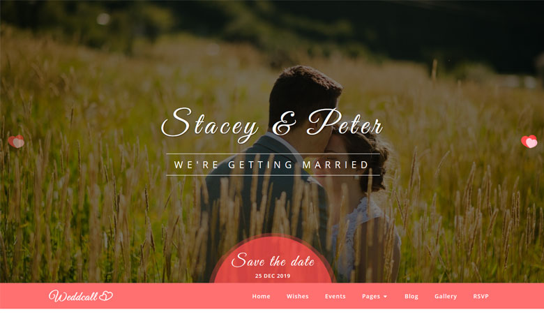 Weddcall - Responsive Wedding RSVP Website Template HTML5