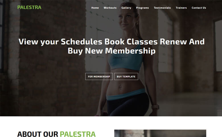 Palestra – Best Gym Websites Design HTML5 Template
