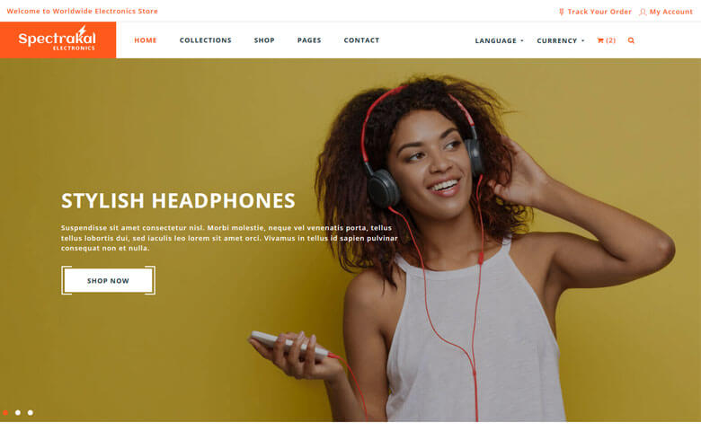 Spectrakal – Bootstrap Online Store Template