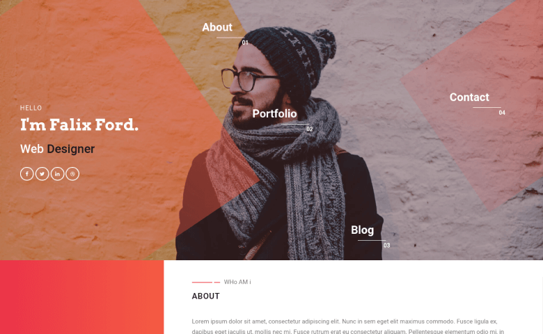 Falix-Ford – Mobile Web Developer Portfolio Website Template