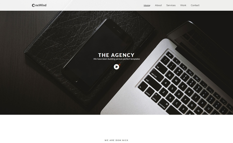 OneWind – HTML5 One Page Responsive Website Template