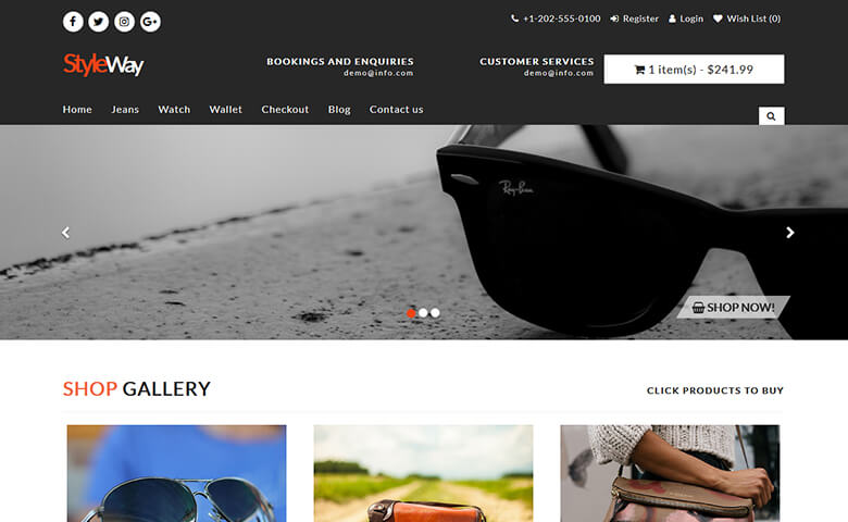 Styleway – Free HTML5 Fashion Ecommerce Website Templates