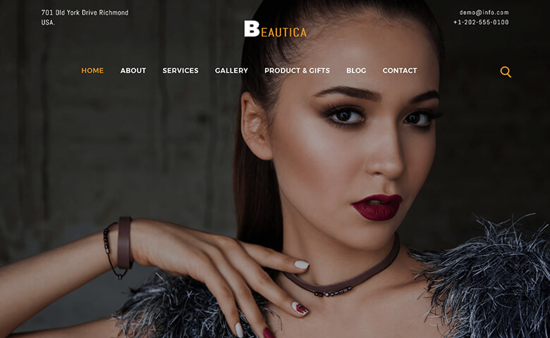 Beautica- HTML Fashion Design Website Template