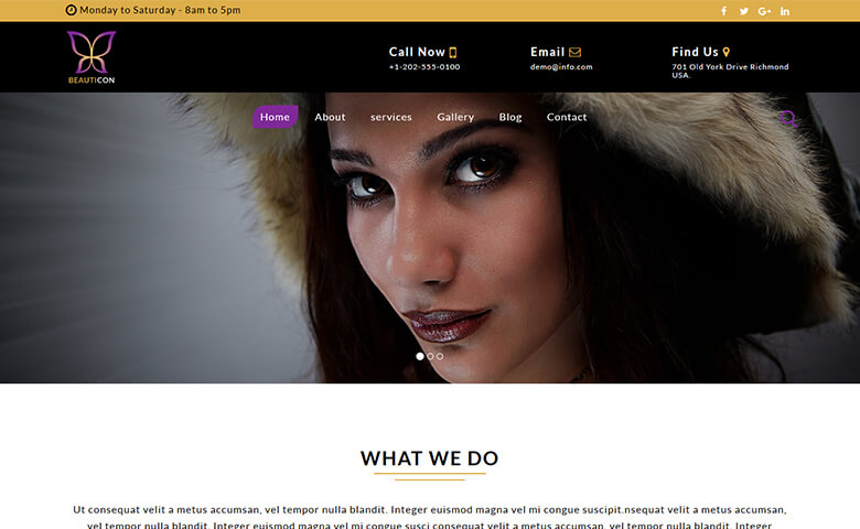 Beauticon – Free HTML5 Fashion Portfolio Website Template