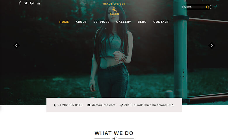 Beautilicious - Responsive Spa and Salon Website Template