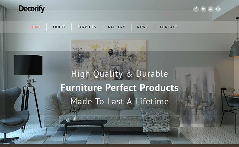 Decorify - HTML5 Furniture Store Website Template