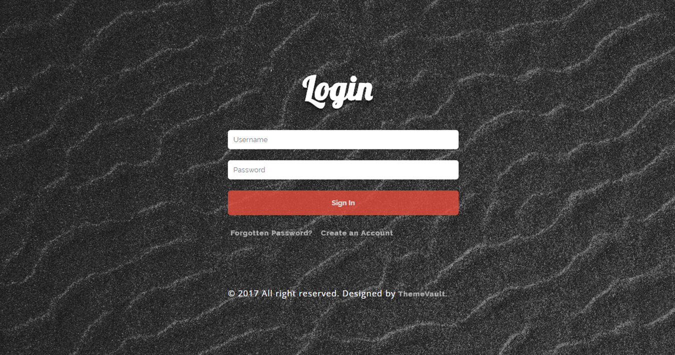 Responsive Instant Login Form Template
