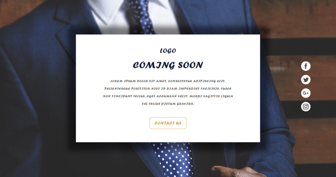 Impressive Coming Soon Free Widget Template