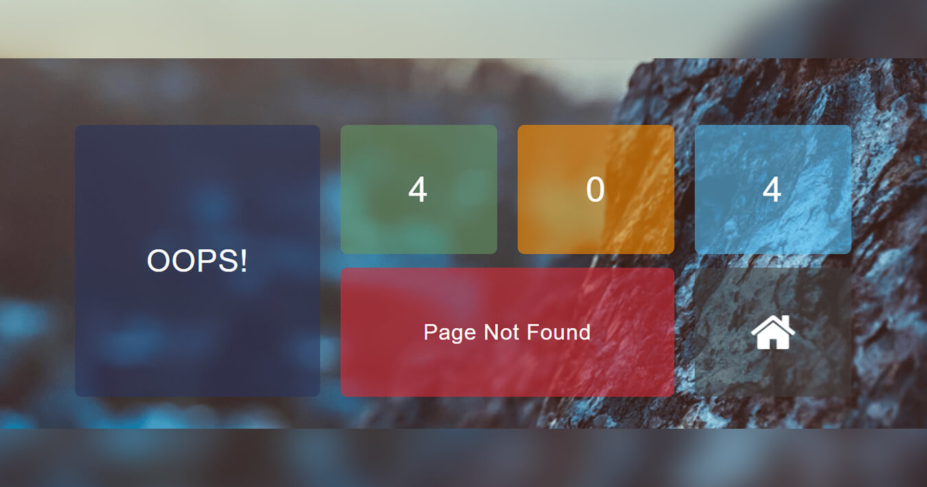 Classy Tabular 404 Page Responsive Widget Template