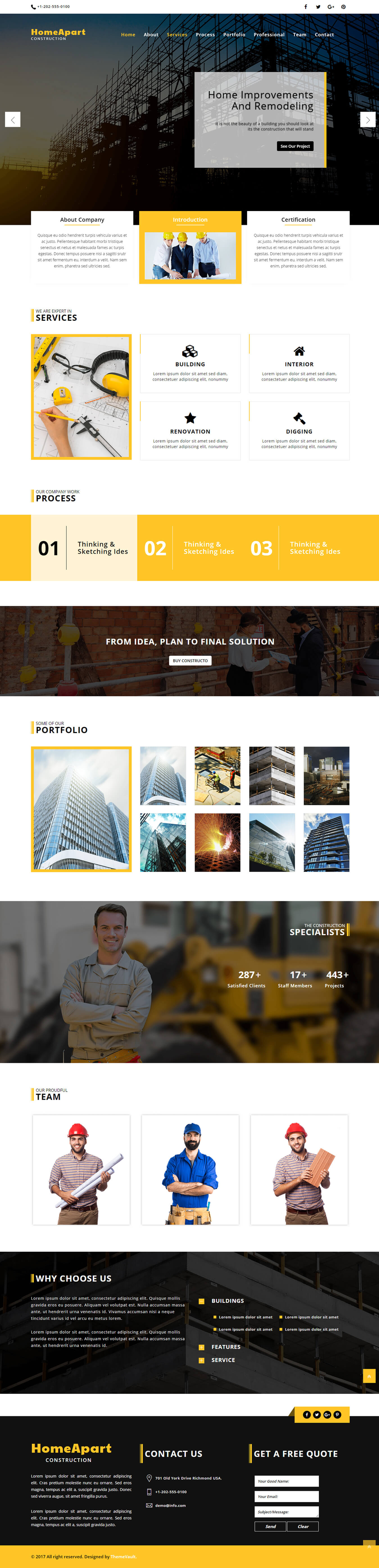 Homeapart Html5 Real Estate Responsive Website Template Themevault