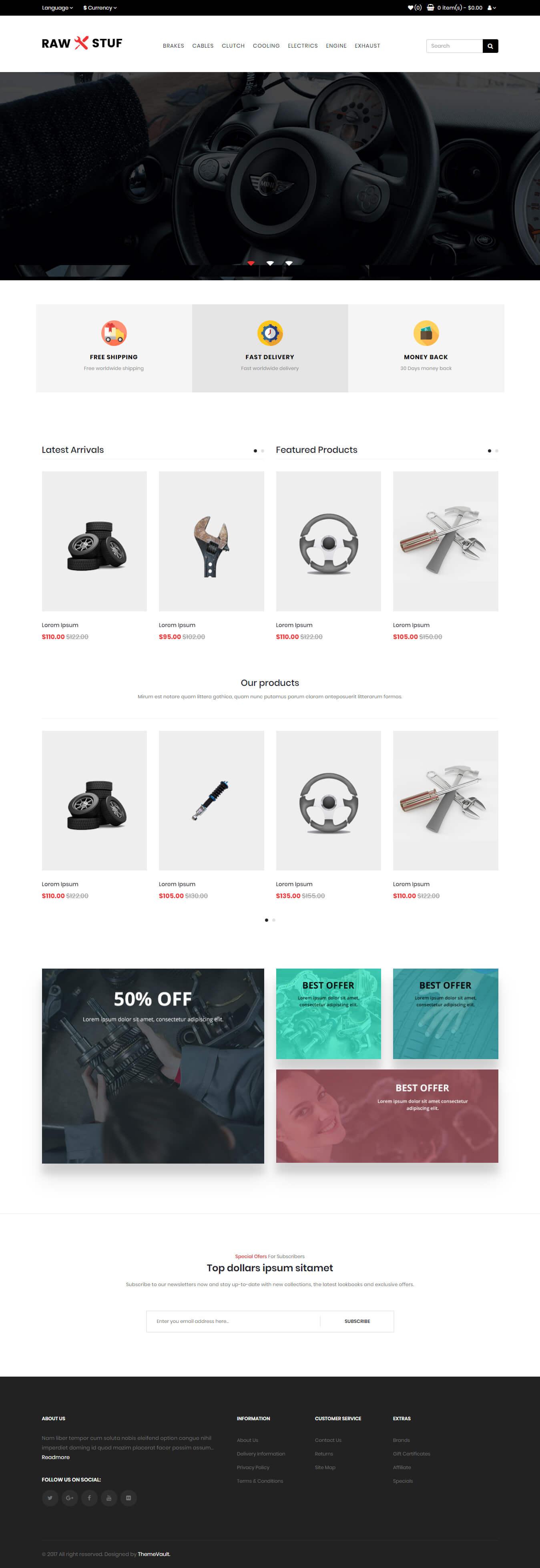 Rawstuf – Best HTML5 Auto Parts Website Template