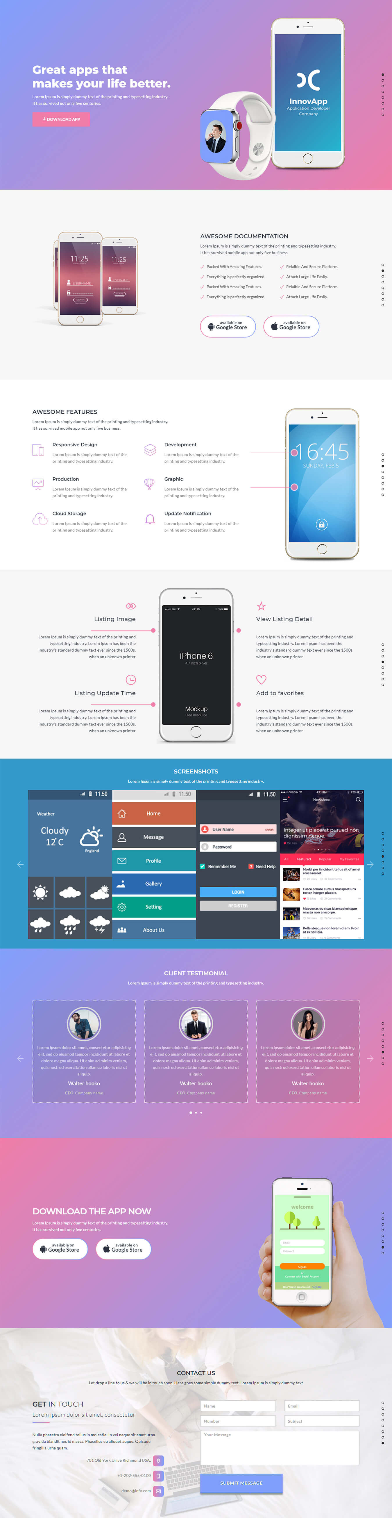 AppZoo App Landing Page Template HTML ThemeVault - Html5 web page template