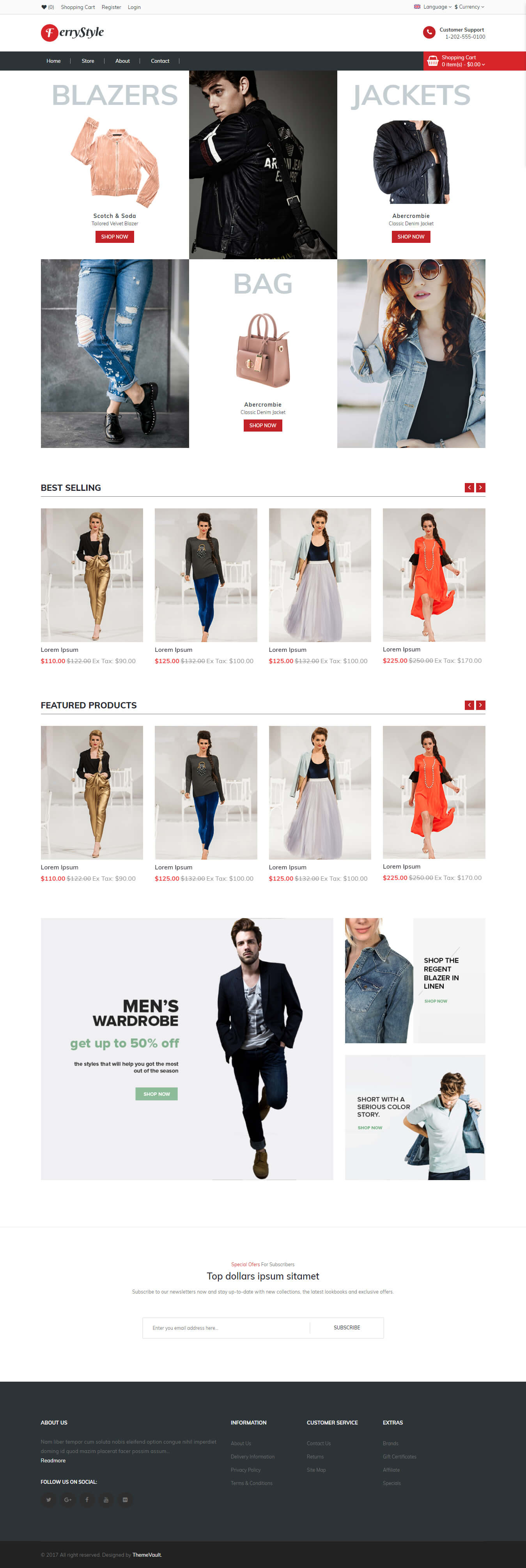 FerryStyle - Online Shopping Website Design Template