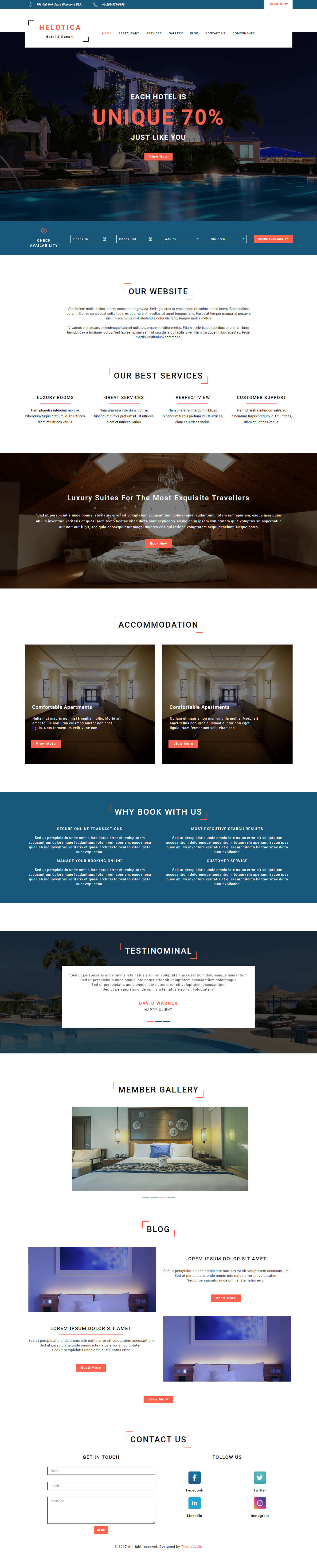 Helotica – Online Travel Agency Website Template HTML5 Free