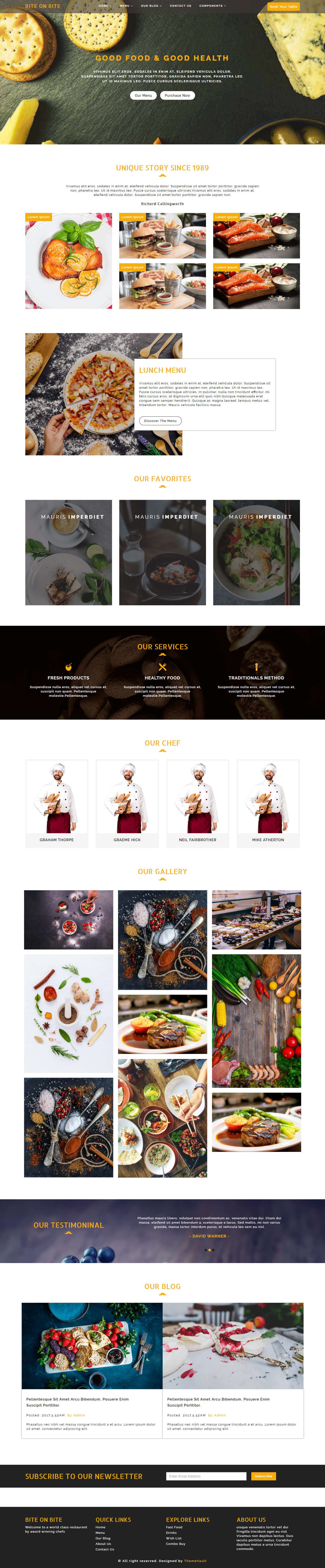 Bite on Bite – Free Restaurant HTML Website Template