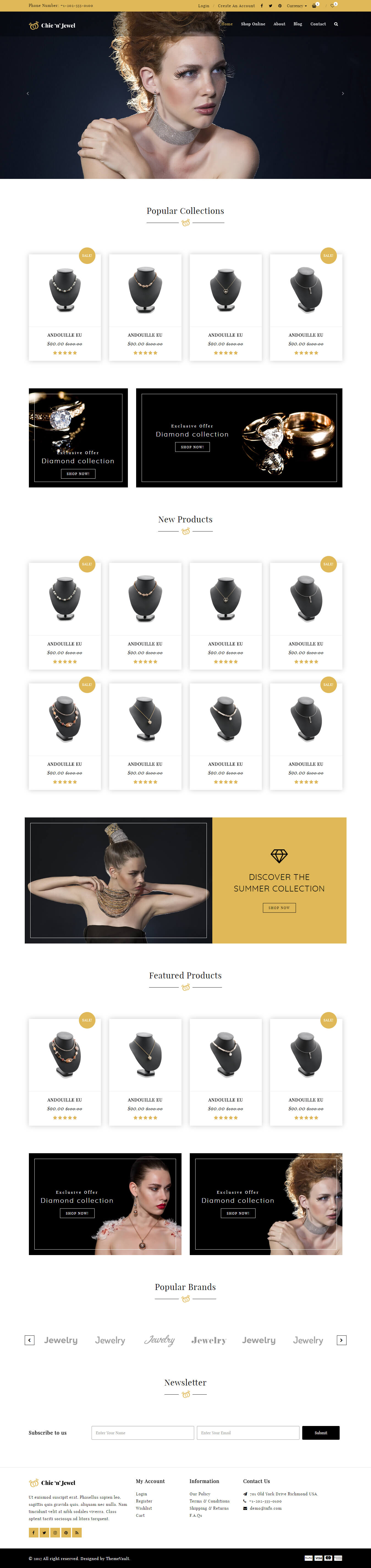 Chic-n-Jewel - Jewellery Ecommerce Website Templates HTML5