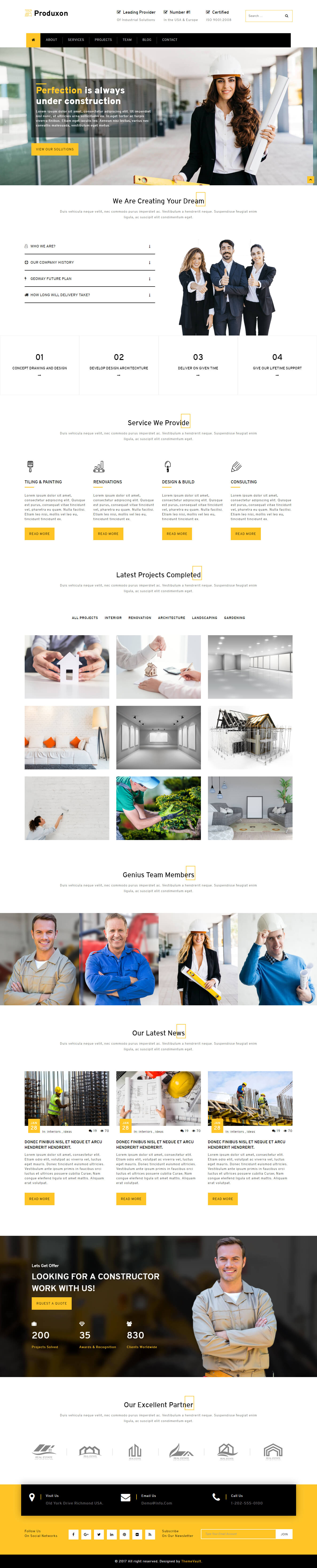Produxon - Free HTML5 Manufacturing Website Templates