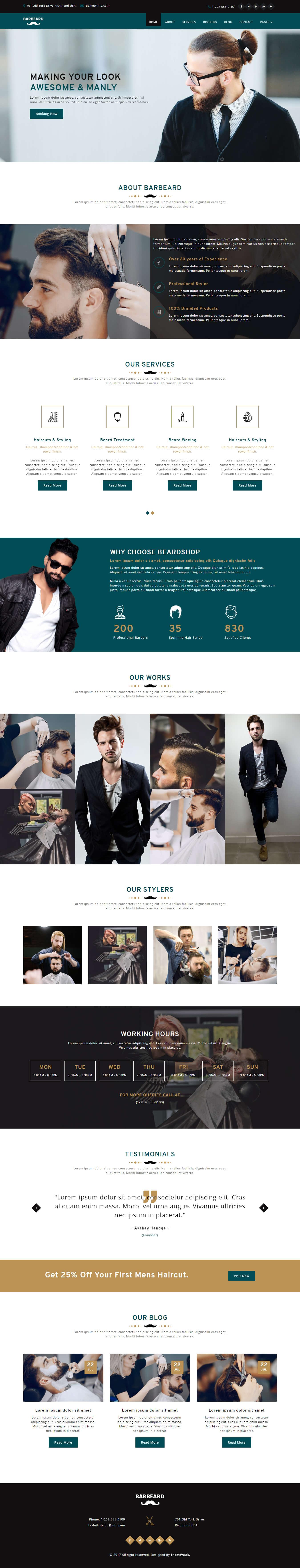 barbeard html5 responsive barber shop website template themevault. Black Bedroom Furniture Sets. Home Design Ideas