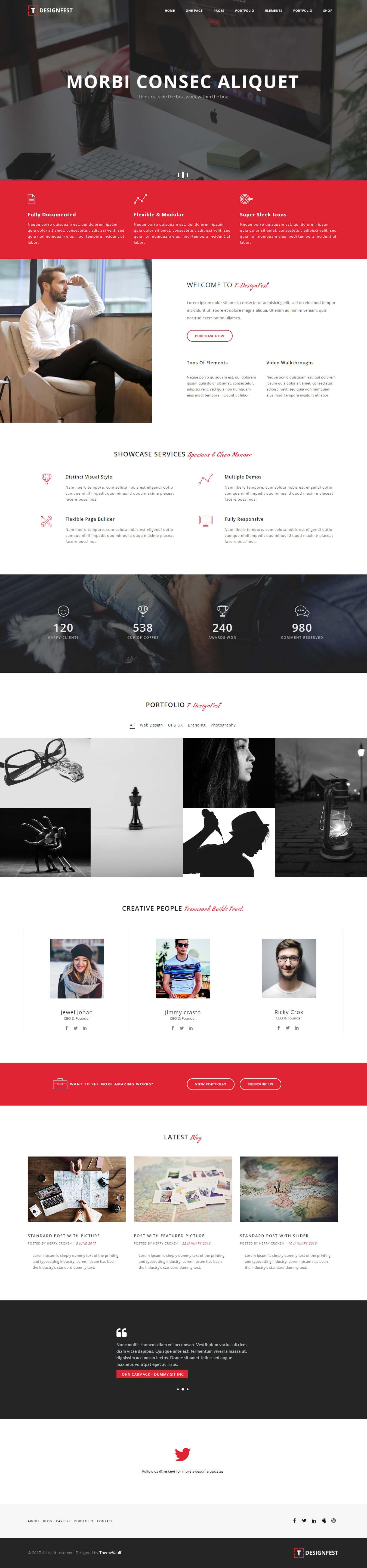 T-Designfest – HTML5 Multipurpose Responsive Template