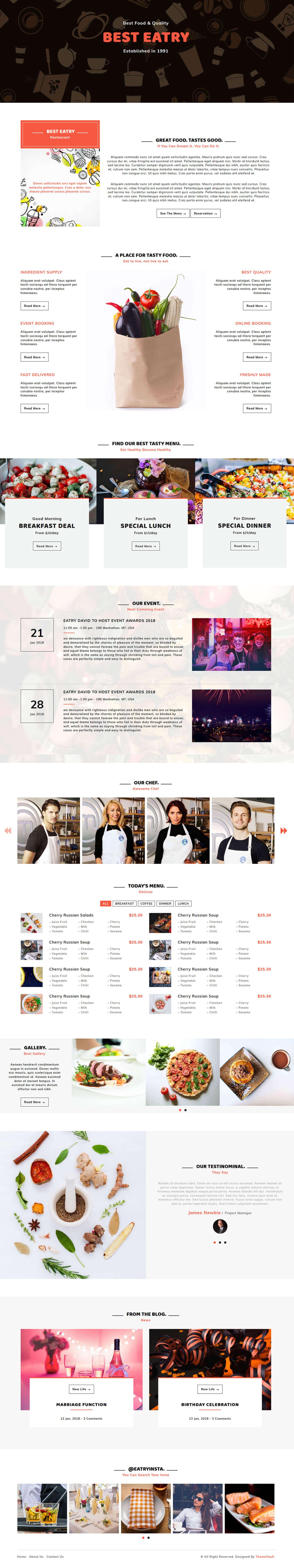 Eatry - Responsive Restaurant Template HTML5