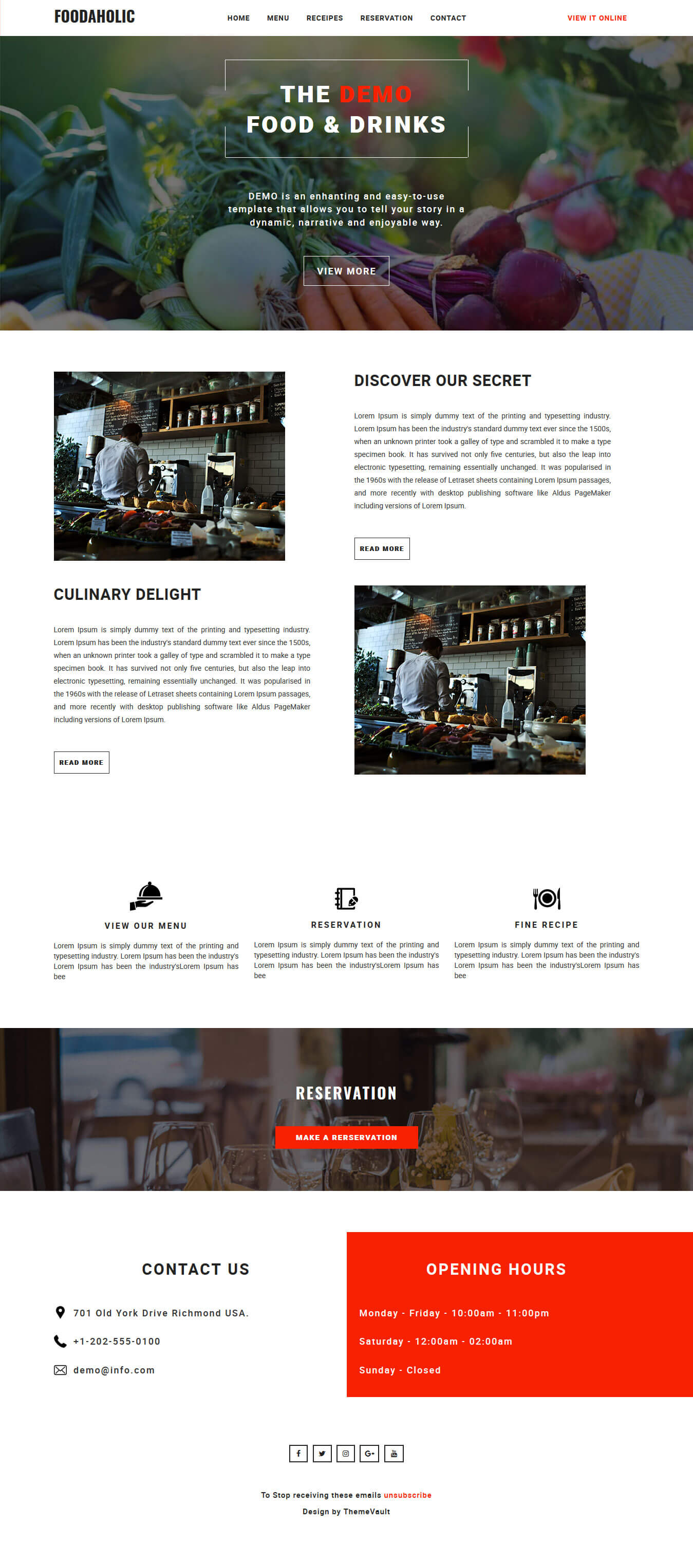 Foodaholic - Responsive HTML Email Template Free
